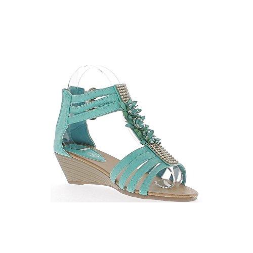 Alexis Leroy Zapatos con estampado de serpiente Sandalias de dedo para mujer Albaricoque 40 EU / 7 UK TFGYx8cLhC