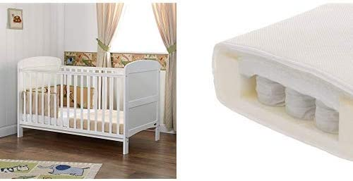 """White Poppys Playground New Baby White COT Bed Nursery Furniture /â/€/"""" Isabella COTBED//Junior Bed"""