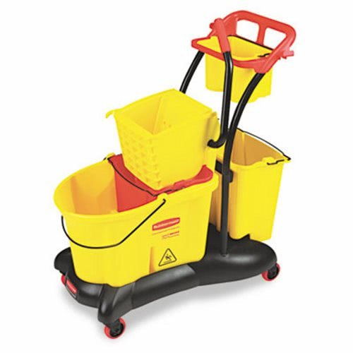 RCP7780YEL WaveBrake 35-Quart Mopping Trolley Side Press, Yellow by RCP7780YEL