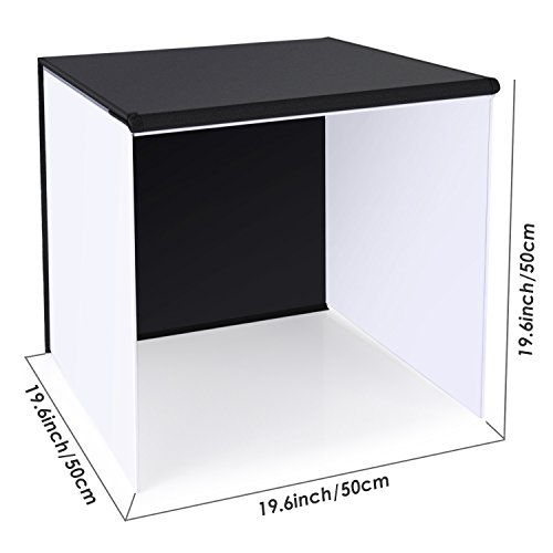 Neewer 20''x20''/50x50cm Table Top Photo Photography Light Tent Studio Square Light Box with 4 Backgrounds by Neewer (Image #4)