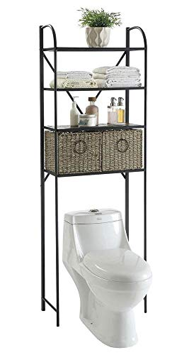 4D Concepts 603121 Windsor Space Saver with Baskets, Slate and Weave ()