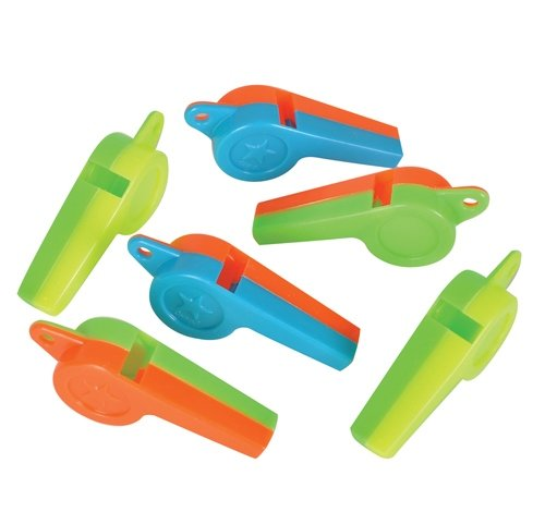 2'' HARD PLASTIC WHISTLE, Case of 30 by DollarItemDirect