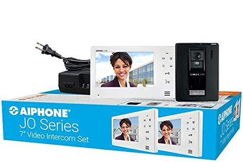 Aiphone JOS-1A2 7-Inch Touch Button Video Surface Mount Intercom Kit w/2 Monitors (Aiphone Intercom)