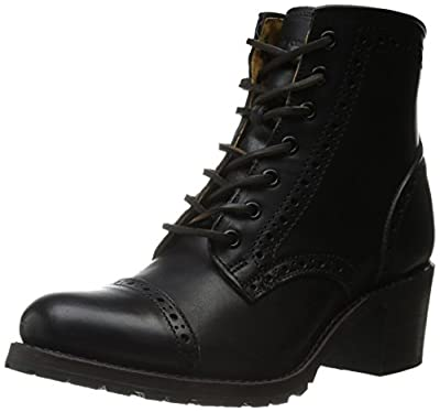 FRYE Women's Sabrina Brogue-VPU Combat Boot