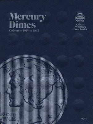Dime Collection - Whitman Coins Dime Folder, Mercury, 1916-1945