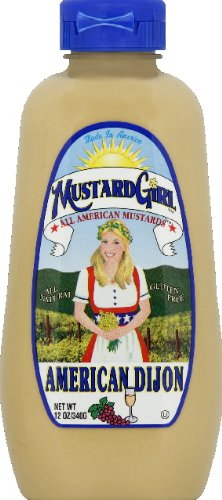 Mustard Girl All American Mustards Condiment, American Dijon, 12 Ounce (Pack of 12)