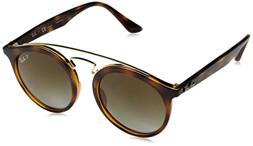 Ray-Ban Injected Unisex Polarized Round Sunglasses, Havana, 49 - Glasses Vintage Ray Ban