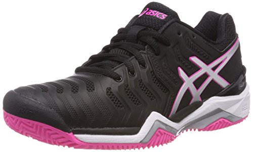 Gel Pink Mujer Para Zapatillas Tenis Multicolor de Resolution Clay Blacksilverhot 7 Asics ZFxAdqZ