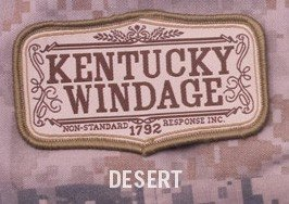 Mil-Spec Monkey Kentucky Windage Morale Patch-Desert ()
