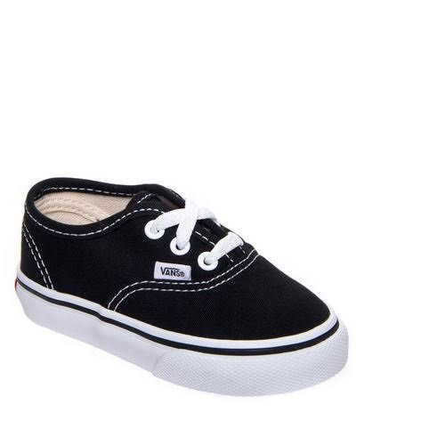 Vans Kids' Authentic-K, Black/True White 9 M US Toddler