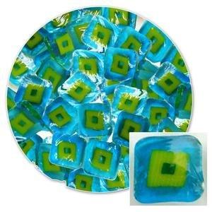 Millifiore Glass (Turquoise Hip To Be Square Millefiori - 96 Coe)