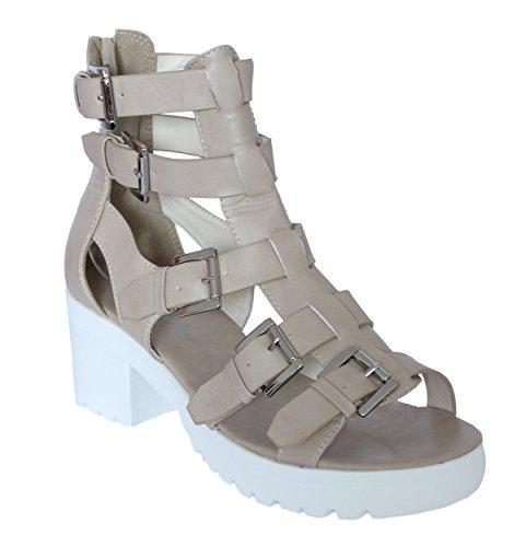 STEKOST - Zapatillas altas Mujer Beige