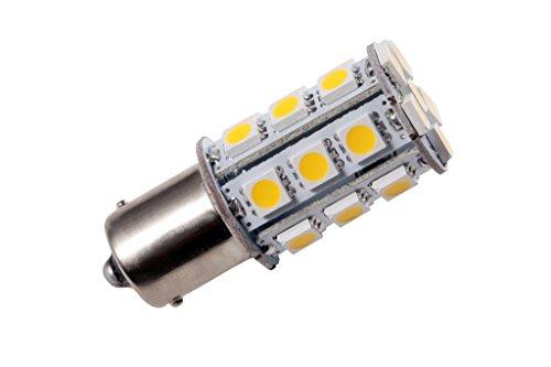 GRV Ba15s 1156 1141 High Power Car LED Bulb 24-5050SMD AC/DC 12V-24V Warm White Pack of 2