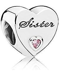 Women's 791946PCZ Sister's Love Charm