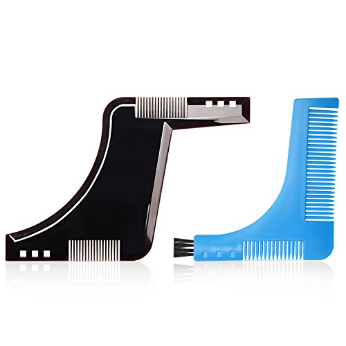 Beard Style Tool Shaping Comb ULG Template Shaper Edging Beards Facial Hair Trimmer for Jaw Line Cheek Neck and Goatee - Styles Beards