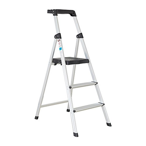 Dporticus Folding Portable 3 Steps Anti-Slip Step Ladder 330Lbs Load Capacity with Tool Tray by Dporticus