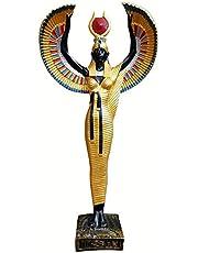 تمثال فرعوني الملكة ايزيس ذات الأجنحة مقاس كبير 50 سم - اسود
