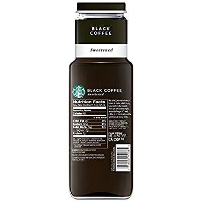 Starbucks Iced Coffee, Black Sweetened, 11oz Bottle