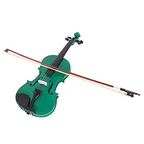 Lovinland 4/4 Acoustic Violin Green Beginner Violin Full Size with Case Bow Rosin by Lovinland (Image #1)