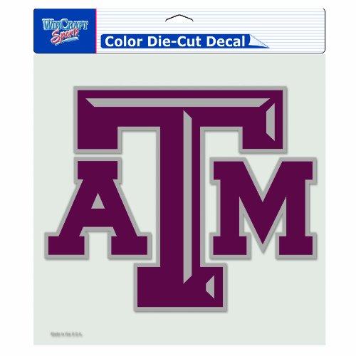 NCAA Texas A&M Aggies 8-by-8 Inch Diecut Colored Decal
