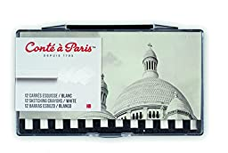 Conté à Paris 12 Count HB Sketching Crayons Set, White
