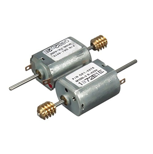 Exiron 10pcs DC12V 13500 RPM Speed 1.5mm Dia Shaft Magnetic Electric Mini DC Worm Motor by Exiron