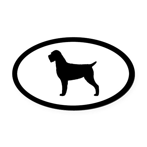 CafePress Wirehaired Pointing Griffon Oval Car Magnet, Euro Oval Magnetic Bumper Sticker