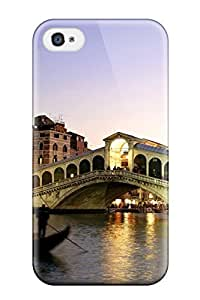 Iphone 6 4.7 Hard Back With Bumper Silicone Gel Tpu Case Cover Rialto Bridge Grand Canal Italy