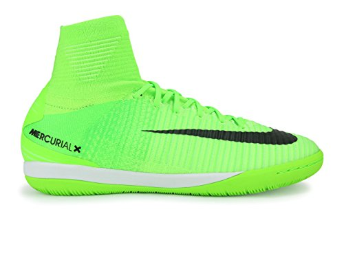 Nike Mens MercurialX Proximo II Dynamic Fit Indoor Soccer Shoes Electric Green/Black/Flash Lime Soccer Shoes - 10A