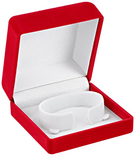 Optima 32-10510 Flocked Bracelet Box Red Watch Case