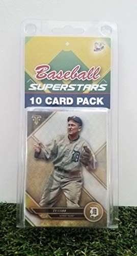 Ty Cobb- (10) Card Pack MLB Baseball Superstar Ty Cobb Starter Kit all Different cards. Comes in Custom Souvenir Case! Perfect for the Cobb Super Fan! by 3bros