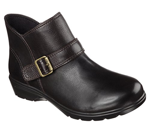 Skechers Womens Relaxed Fit Metronome Mod Squad Bootie,Chocolate,US 7 M by Skechers