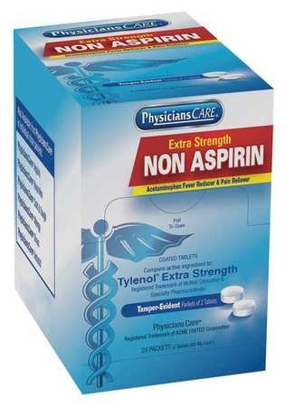 Non-Aspirin, Tablet, 500mg, PK25