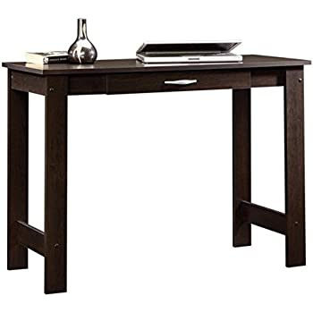 Amazon Com Ameriwood Home Parsons Desk With Drawer Black