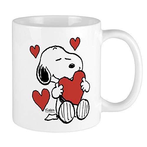 CafePress Snoopy On Heart Mugs Unique Coffee Mug, Coffee Cup