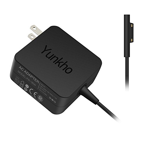 Yunkho Surface Pro 3/Pro 4 Charger, 36W 12V 2.58A Replacement Power Supply for Microsoft Surface Pro 3 /Pro 4 i5 i7 Tablet with 5.4Ft Cord by Yunkho