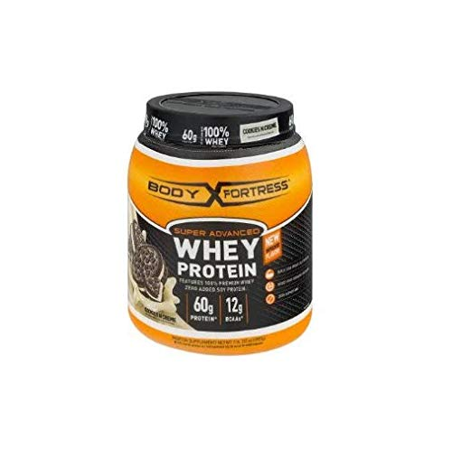 Body Fortress Super Advanced Whey Protein, Orange, Cookies N' Creme, 32 Ounce (Body Fortress Protein Powder)