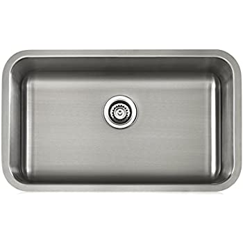 Lenova Ls18503 Apogee 18 Gauge Stainless Steel Single Bowl