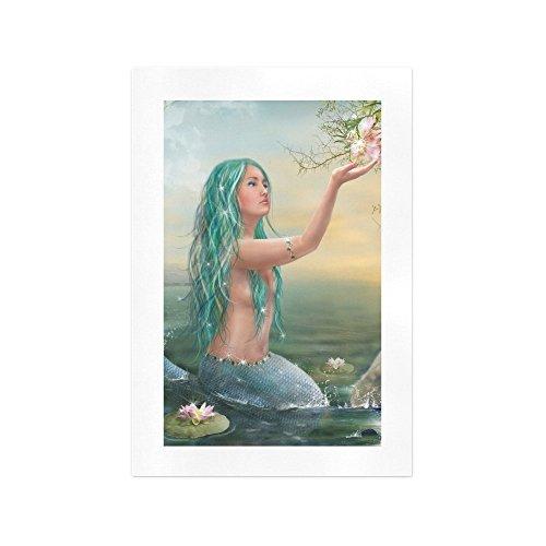 ADEDIY-Custom-Wall-Art-Beauty-Mermaid-Flower-Art-Print-13x19-Home-Fashion-Art-Print-on-Canvas