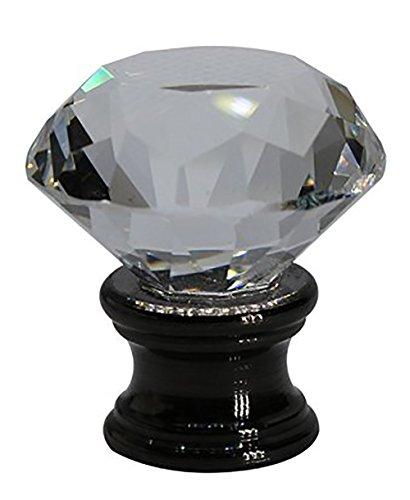 Urbanest Crystal Duchess Lamp Finial, Black, 1 5/16-inch - Duchess Crystal