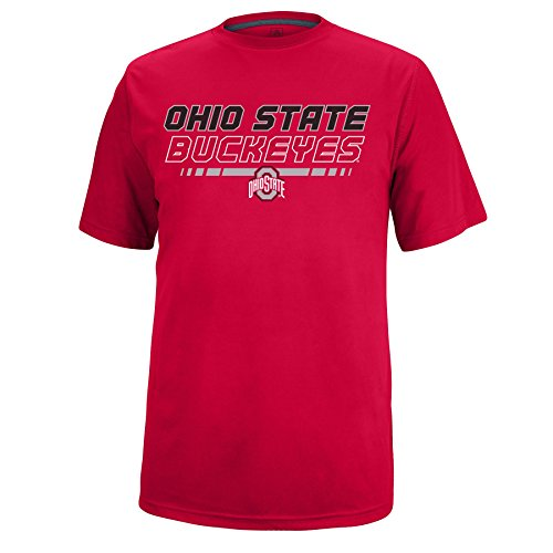 - J America Men's Ohio State Fast Break Poly Tee Ohio St, X-Large, Red