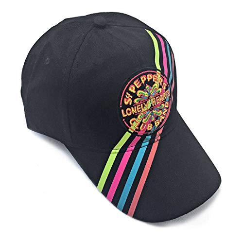 The Beatles Classic Adjustable Baseball Cap Drop T Logo Sgt Pepper Drum Abbey Road (Sgt. Pepper Stripes)