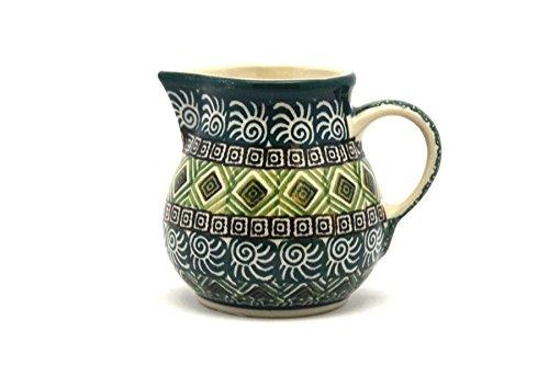Polish Pottery Creamer - 4 oz. - Aztec Forest