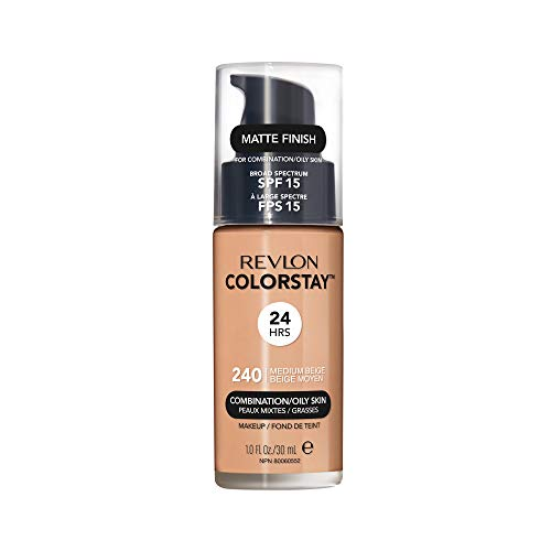 Revlon ColorStay Liquid Foundation For Combination/oily Skin, SPF 15 Medium Beige, 1 Fl Oz (Medium Beige Foundation)
