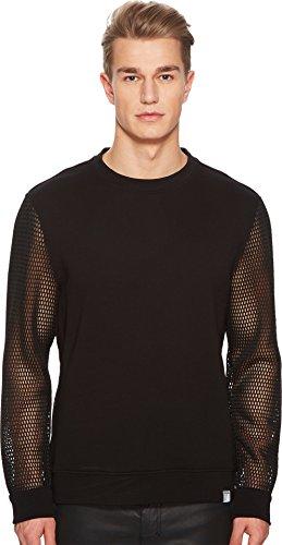 Versace Collection Men's Mesh Sleeve Sweatshirt Black Small (Versace Collection Mens)