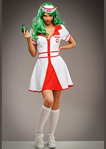 Disfraz de Enfermera Estilo Joker para Mujer Medium (UK 10-12 ...