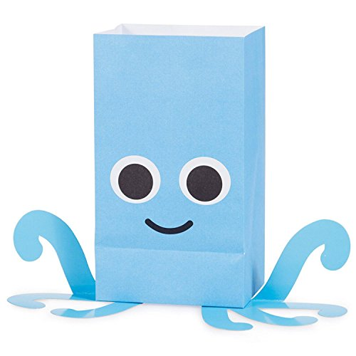 """Pack of 96 Juvi French Bull Ocean Paper Treat Bags with Attachments 8.5"""" by Party Central (Image #4)"""