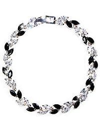 Crystal Tennis Bracelet Cubic Zirconia Birthstone Cz Bracelets Crystal Wedding Jewelry Bracelets for Women Girls