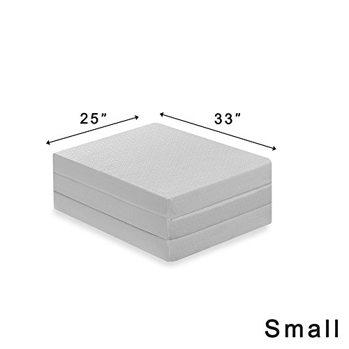Best Price Mattress Tri-Fold Memory Foam Mattress Topper, 4-Inch