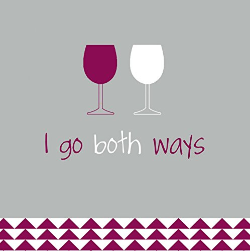 Evergreen Enterprises Spring - Evergreen Enterprises EG4NC1416 I Go Both Ways Cocktail Napkin, Multicolored